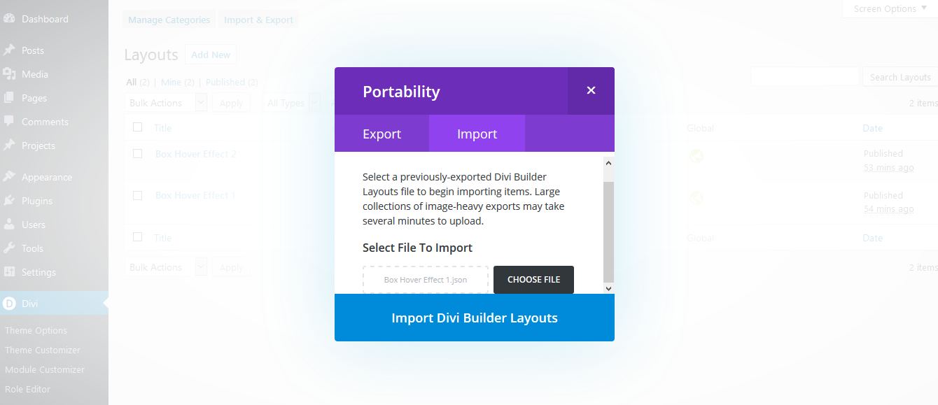 Box Hover Effects - Part 1 - Divi Professional